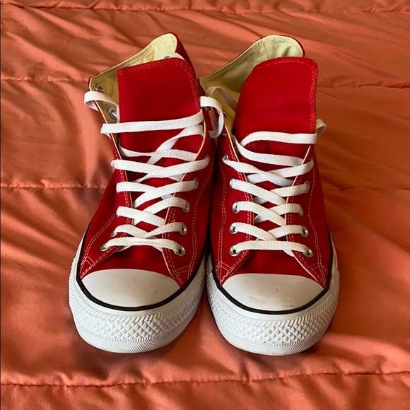 Converse Other - Hi Top Red Coverse Chuck Taylor All Stars